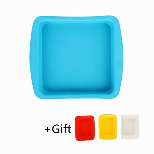 (Silicone Deep Dish Container (Square Blue 9.7