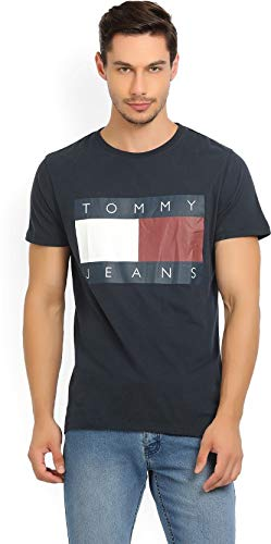 fe40ffbf Tommy Hilfiger Men Cotton T-shirts S Dark Blue: Amazon.in: Clothing &  Accessories