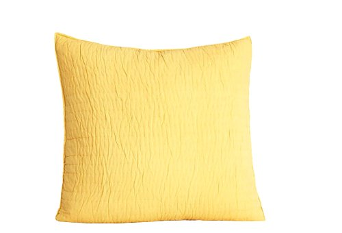 Be-You-tiful Home Basic Quilted Sham, Euro, Golden Yellow