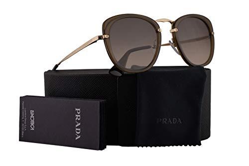 Prada PR58US Sunglasses Brown w/Brown Gradient Grey 49mm Lens 31D3D0 SPR58U PR 58US SPR - 49mm Prada Sunglasses