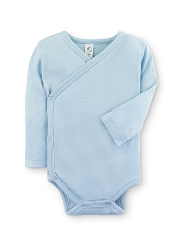 Popular Cotton Shirt (Colored Organics Baby Organic Kimono Bodysuit Long Sleeve Newborn 0-3 Months Light Blue)