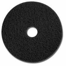 (Glit 20011 TK Polyester Blend Black Stripping Floor Pad, Synthetic Blend Resin, Minerals Grit, 17