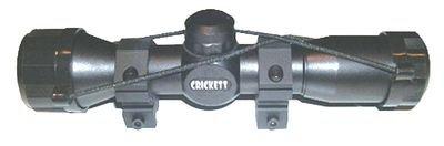 Crickett Keystone KSA054 Mil Dot Quick Focus Scope, 4x32-Millimeter, Black Matte Finish