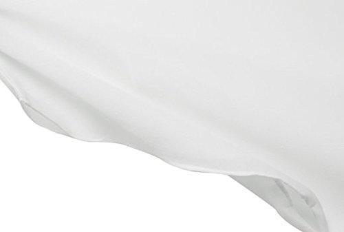 Exlura Plus Size Dolman Sleeve Chiffon Blouse White