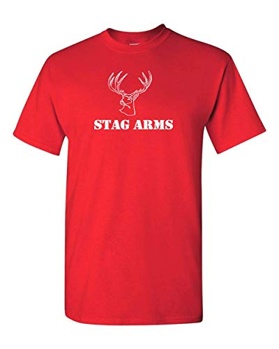 (Stag Arms AR15 Rifle Firearms Weapon Gun Military Black T-Shirt (2X, Red))