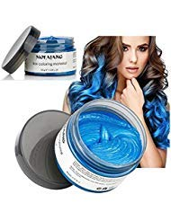 Temporary Blue Hair Wax, YHMWAX 4.23oz Instant Hairstyle Mud Cream, Natural Hair Coloring Wax Material Disposable Hair...