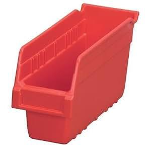 Akro-Mils 30048 18-Inch L by 4-Inch W by 6-Inch H Clear ShelfMax Plastic Nesting Shelf Bin Box, 8-Pack by Akro-Mils