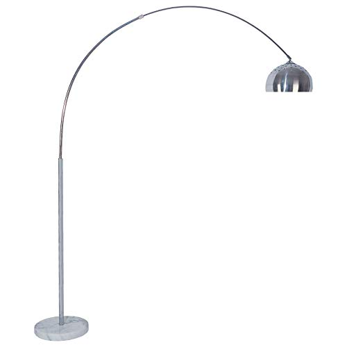 Furniture of America Dana Contemporary Metal 81-inch Marble Base Arch Lamp