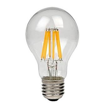 GDS A60(A19) 8W E27 COB Led Filament light Retro l&s Cool/Warm White Vintage l& AC170-265V  warm white [Energy Class A++]  sc 1 st  Amazon UK & GDS A60(A19) 8W E27 COB Led Filament light Retro lamps Cool/Warm ... azcodes.com