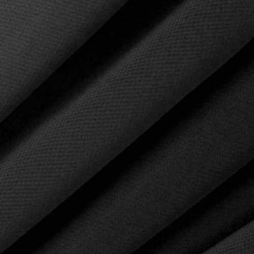 """Fashion Fabrics Black Stretch Chiffon Apparel Drapery Fabric - Sold By The Yard - 60"""""""