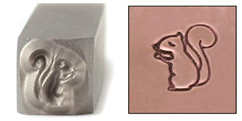 Squirrel Metal Design Stamp, 6mm Wildlife Forest Animal Punch Stamping Tool for Hand Stamped DIY Jewelry Crafts - Beaducation Original Metal Design Stamps