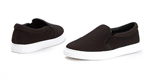 Un calzado de malla transpirable de resorte pedal/Zapatos de mujer casual gris