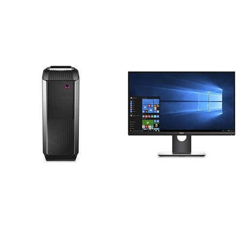 "Dell Alienware AUR5-2571SLV Desktop Bundle with Dual 24"" ..."