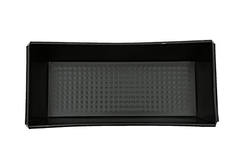 Tosaa Rectangular Aluminium Cake Mould Box, 34cm, Black