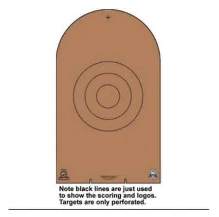 Law Enforcement Targets NRA D-1 Cardboard Bianchi Cup Tombstone 100 Per by Law Enforcement Targets