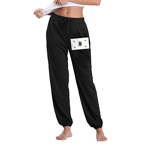 XingxDianD Rhode Island Flag Women Joggers Sweatpants Cotton Long Pants with ()