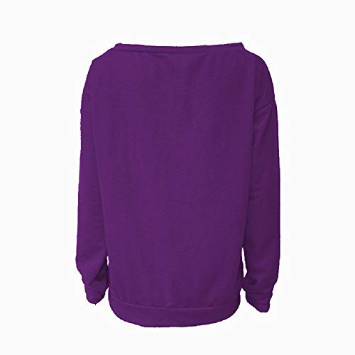 Blusa Camiseta larga Tops Aibayleef Su Cuello de mujer Manga redondo qpqwgax