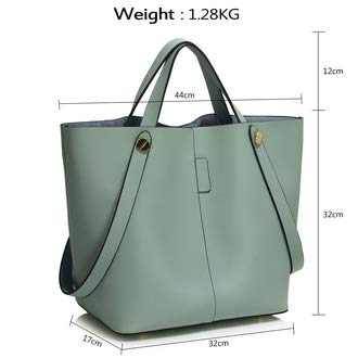 Of Combination Tote Matching Leather Both Handbags And 2 Blue Piece In Set Purse Ladies Faux Large Bag Classic Woman With Handbag Shoulder Capacity Set Great OwPCF