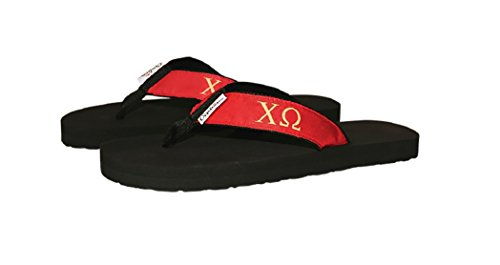 Ovation Wear Chi Omega Sorority Flip Flops, Size 9