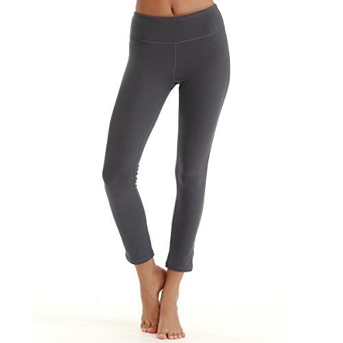 YAHA Women's 7/8 Medium Waist Tights Yoga Pants Workout Leggings