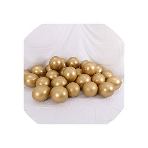 Latex Balloons Wedding Decorations Helium Birthday Party Decorations Adult Kid's Toy,Metal Gold,10Pcs]()
