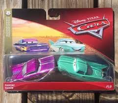 Disney Pixar Cars Character Ramone Purple & Flo Vehicle, 2 Pack (Pixar Cars Disney Movie Cars)