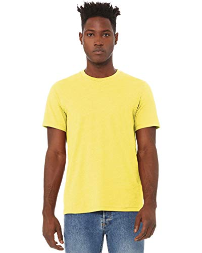 Bella+Canvas Men's Heather CVC T-Shirt, Heather Yellow, XXXX-Large
