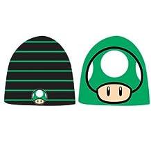 Nintendo Super Mario Bros. Green 1-UP Mushroom Reversible Beanie