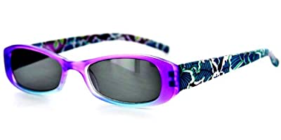 Sun Orchard Fashion Full Reading Sunglasses(NOT A BIFOCAL) w/ Floral Design for Women