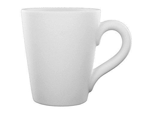 Cone Mug - Paint Your Own Ceramic - Unfinished Low-Fire Ceramic Bisque - Paint-a-Potamus