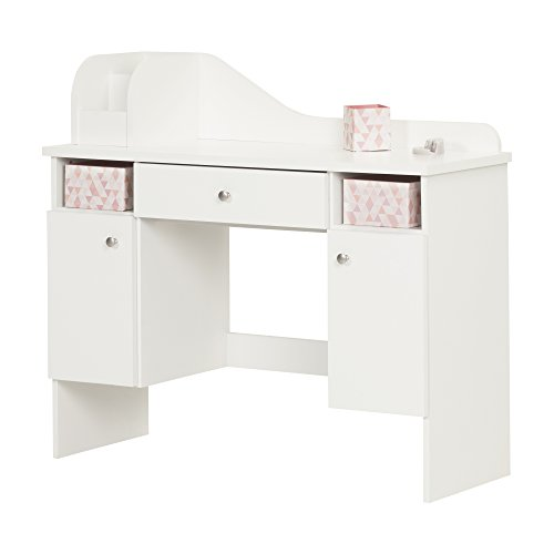 South Shore Vito Makeup Desk with Drawer, White by South Shore