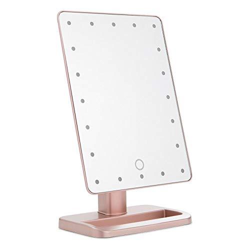 TIGOD Lighted Makeup Mirror with Lights Smart Vanity Mirror 61 LED Auto Sensor Light up Mirror for Makeup Shaving 3 Color Lighting Large Round Makeup Mirror with Lights
