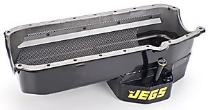 Pan Track Oil Circle (JEGS Performance Products 50225 Circle Track Oil Pan Small Block Chevy 1955-79)