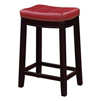 Amazon Com 4 24 Quot Red Cushion Saddle Back Kitchen Counter