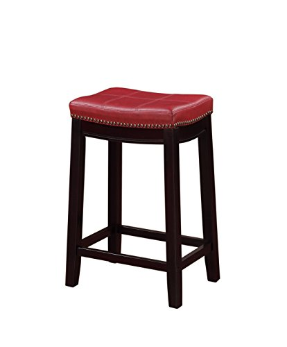 Linon 55815RED01U Claridge Counter Stool, 26