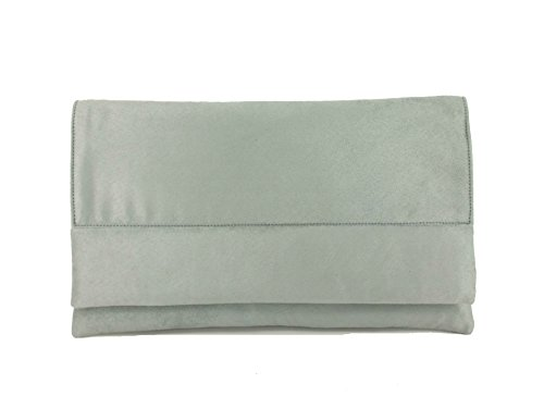 Bag Grey Glam Shoulder Faux Clutch LONI Suede wpnqCOUPxz