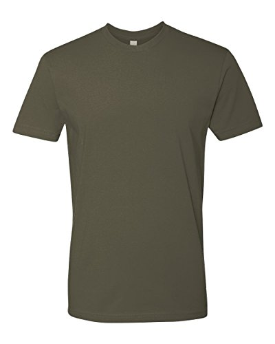 Next Level Mens Premium Fitted Short-Sleeve Crew T-Shirt - Large - Military Green