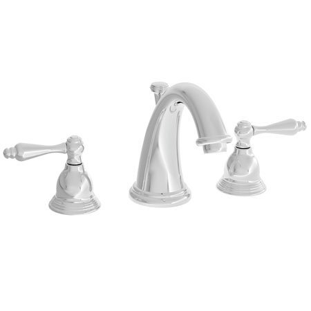 (Newport Brass 850C Seaport Double Handle Widespread Lavatory Faucet with Metal L, Polished Chrome)