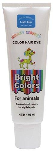 CRAZY LIBERTY Pets Hair Dye, Permanent Non-Toxic (Light Blue) by CRAZY LIBERTY
