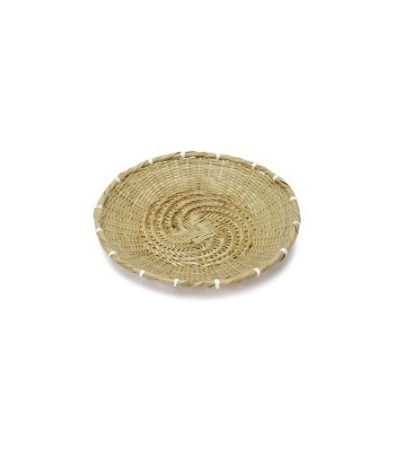 Bamboo Japanese Small Round Basket Dish Plate for Soba Udon Noodles 8.2 inches From Japan