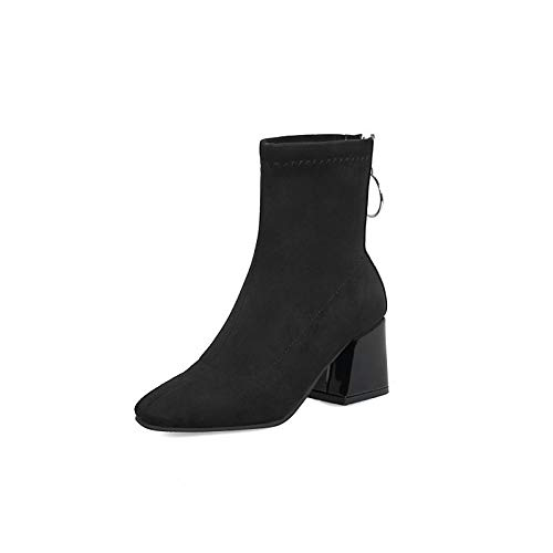Black US10.5   EU42   UK8.5   CN43 Black US10.5   EU42   UK8.5   CN43 Women's shoes PU Fall & Winter Fashion Boots Boots Chunky Heel Round Toe Booties Ankle Boots Black Yellow   Red