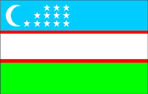 """10"""" Uzbekistan Country flag Printed vinyl decal sticker for any smooth surface such as windows bumpers laptops."""