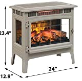 Duraflame 3D Infrared Electric Fireplace Stove with Remote Control - Portable Indoor Space Heater - DFI-5010