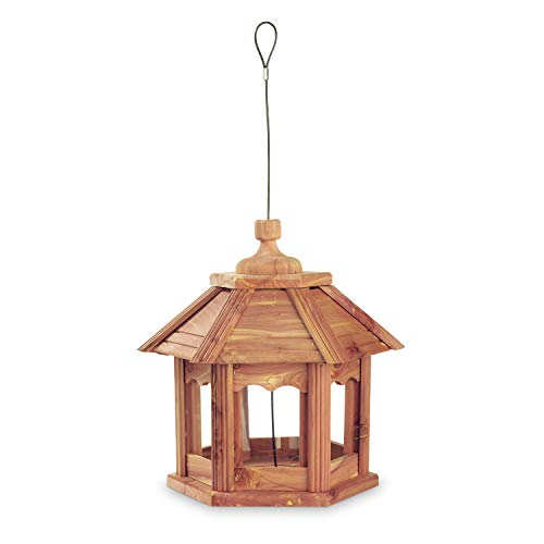 Pennington 100509194 Cedar Gazebo Bird Feeder, 3 LB Capacity,
