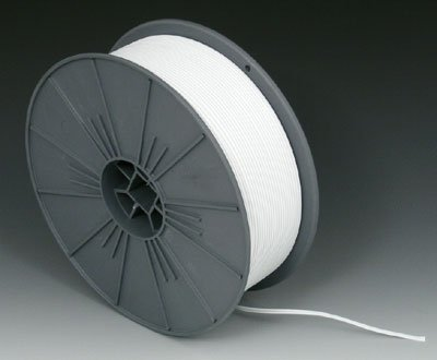 6000' of Paper / Plastic Covered Twist Ties on a Roll - White - AB-26-101W by Miller Supply Inc