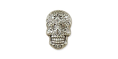 Tandy Leather Sugar Skull Concho Nickel Free 71512-01 ()