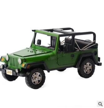 Amazon.com: Wrangler decoración, retro, modelo Jeep de ...