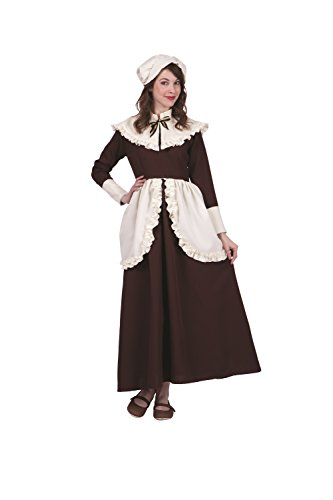 RG Costumes Women's Plus-Size Colonial Abigail, Brown/Cream, X-Large
