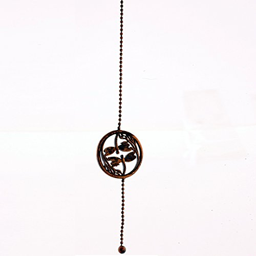Tuscan Antique Metal Finish Double Dragonfly Ceiling Fan Pull INSIDE-OUT 12 Inch Length