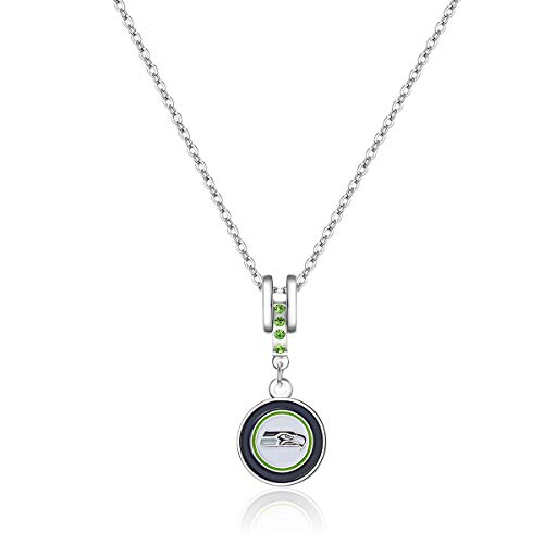 Charm Seattle Silver Seahawks - Pro Specialties Group NFL Seattle Seahawks Charm Necklace